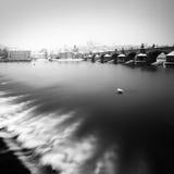 Ponte di Charles e cattedrale della st Vitus, Praga, repubblica Ceca Immagini Stock Libere da Diritti