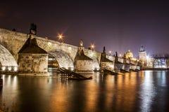 Ponte di Charles a Praga immagine stock libera da diritti