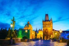 Ponte di Charles a Praga, repubblica Ceca immagine stock