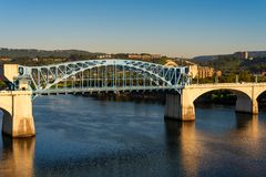 Ponte di Chattanooga Fotografia Stock Libera da Diritti