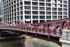 Ponte di Chicago Fotografia Stock Libera da Diritti