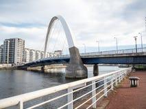 Ponte di Clyde Arc, Glasgow Fotografie Stock