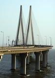 Ponte di collegamento del mare di Bandra Worli di Mumbai Immagine Stock