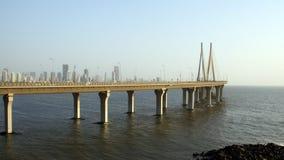 Ponte di collegamento del mare di Bandra Worli di Mumbai Fotografia Stock