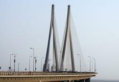 Ponte di collegamento del mare di Bandra Worli di Mumbai Immagini Stock Libere da Diritti