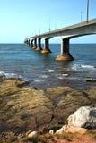 Ponte di confederazione nell'isola di principe Edward nel Canada Fotografia Stock