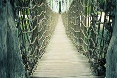 Ponte di corda di Sentosa Fotografia Stock