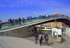 Ponte di costituzione, Venezia Fotografie Stock