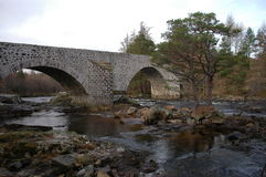 Ponte di Dee, Invercauld Fotografia Stock Libera da Diritti