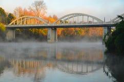 Ponte di Fairfield, Hamilton, Waikato, Nuova Zelanda immagine stock libera da diritti