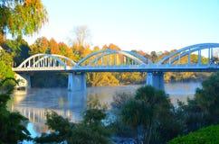 Ponte di Fairfield, Hamilton, Waikato, Nuova Zelanda Fotografie Stock Libere da Diritti