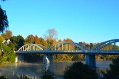 Ponte di Fairfield, Hamilton, Waikato, Nuova Zelanda Immagine Stock