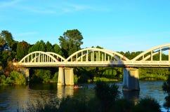 Ponte di Fairfield, Hamilton, Waikato, Nuova Zelanda Fotografia Stock Libera da Diritti