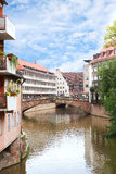 Ponte di Fleisch a Norimberga, Germania Immagini Stock Libere da Diritti