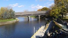 Ponte di Frankenmuth Fotografia Stock Libera da Diritti