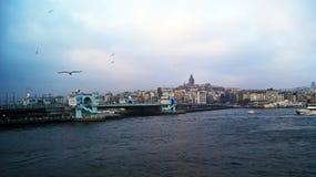 Ponte di Galata fotografie stock