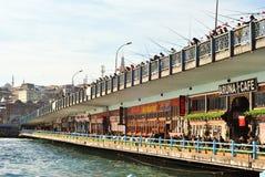 Ponte di Galata, Costantinopoli, Turchia Fotografie Stock