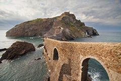 Ponte di Gaztelugatxe Immagini Stock Libere da Diritti