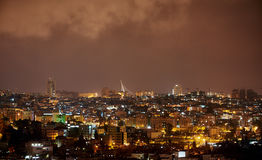 Ponte di Gerusalemme alla notte Fotografia Stock