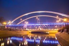 Ponte di Grozavesti, Bucarest Fotografia Stock