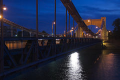 Ponte di Grunwaldzki, Wroclaw Fotografie Stock Libere da Diritti