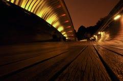 Ponte di Henderson Waves nella sera a Singapore Immagine Stock Libera da Diritti