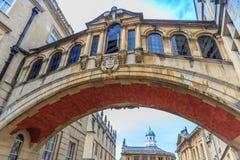 Ponte di Hertford, università di Oxford fotografie stock libere da diritti