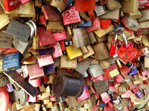 Pontedi HohenzollernColonia Germania Amore per sempre Immagine Stock