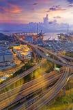 Ponte di Hong Kong Stonecutters ' Fotografie Stock