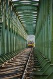 Ponte di incroci del treno Fotografie Stock Libere da Diritti
