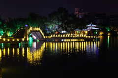 Ponte di Jiuqu a Guilin, fotografie stock libere da diritti