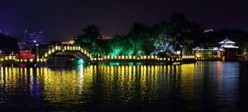 Ponte di Jiuqu a Guilin, fotografia stock libera da diritti