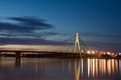 Ponte di Kiev Fotografie Stock