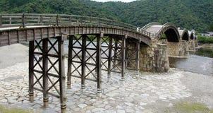 Ponte di Kintai in Iwakuni Fotografia Stock
