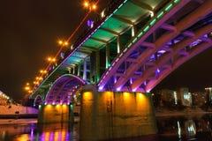 Ponte di Kirov alla notte. Immagini Stock Libere da Diritti