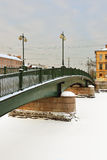 Ponte di Krasnoarmeisky sopra Fontanka Fotografia Stock Libera da Diritti