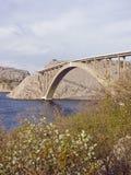 Ponte di Krk - ponte dell'arco in Croazia Immagini Stock Libere da Diritti