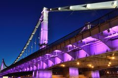 Ponte di Krymskiy a Mosca Immagini Stock