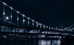 Ponte di Krymsky attraverso il fiume di Mosca, Mosca, Russia Fotografia Stock Libera da Diritti