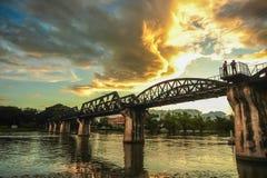 Ponte di Kwai del fiume Fotografie Stock