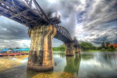 Ponte di Kwai del fiume, Kanchanaburi Tailandia Fotografia Stock Libera da Diritti