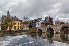 Ponte di Lahn in Wetzlar, Germania Fotografie Stock