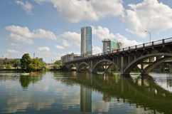 Ponte di Lamar in Austin Texas immagine stock