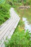 Ponte di legno Immagini Stock