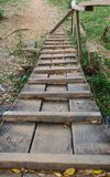 Ponte di legno Fotografia Stock