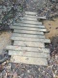 Ponte di legno Fotografia Stock Libera da Diritti
