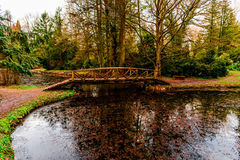 Ponte di legno Fotografie Stock Libere da Diritti