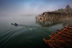 Ponte di legno più lungo Fotografia Stock Libera da Diritti