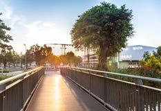 Ponte di legno sintetico Immagine Stock Libera da Diritti