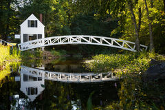 Ponte di legno, Somesville Fotografia Stock Libera da Diritti